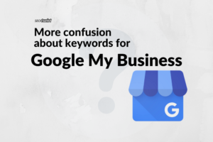 google my business logo and article title on a white background