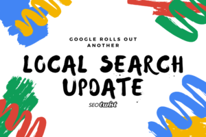 Google local search update with paint strokes in the background