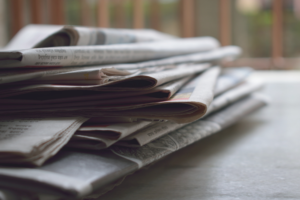 Stack of newspapersa